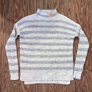 Women's XS Stripe Mock Neck Sweater American Eagle